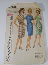 Vintage 40s-60s Simplicity Women's Casual Dress Patterns 4840 - $28.04