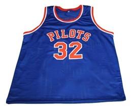 Jason Kidd #32 Pilots High School Basketball Jersey New Sewn Blue Any Size image 4
