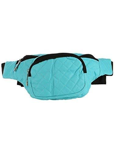 Trendy Quilted Fanny Pack Waist Pack (Blue)