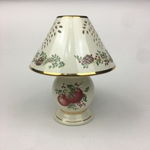 Lenox Williamsburg Boxwood and Pine Pattern Tea Light Candle Lamp w Gold... - $20.56