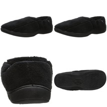 Isotoner Men'S Microterry Slip On Slippers With Memory Foam,  Black,  Large - $47.29 CAD