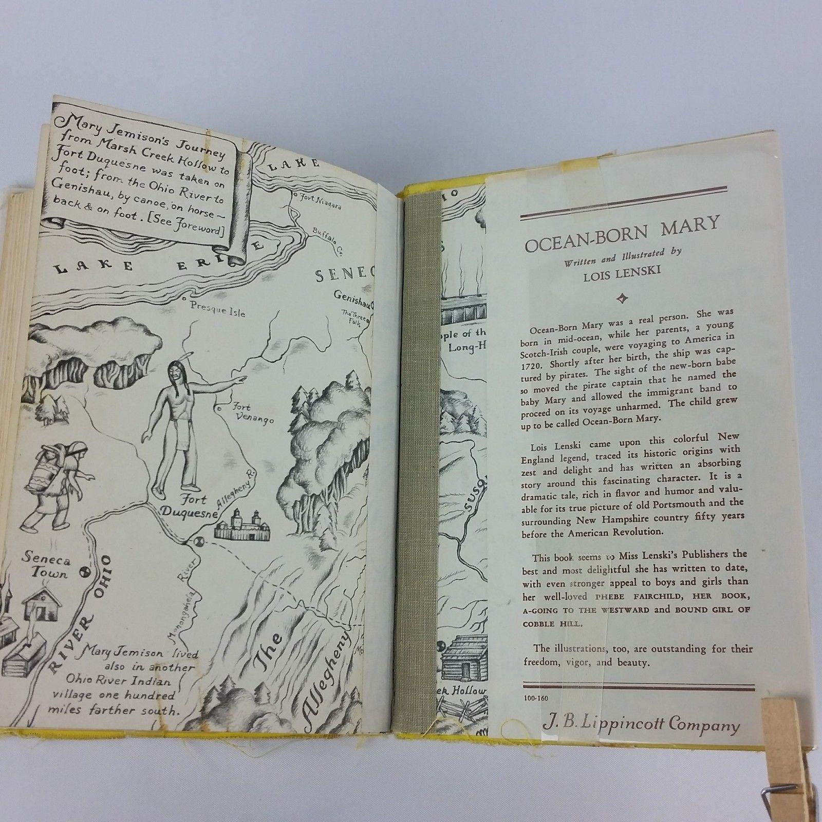 Indian Captive Story of Mary Jemison 1941 Childrens Vintage Book Lois Lenski