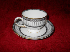 Wedgwood Colonade Black Cup and Saucer Set - $12.86
