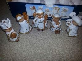 PORCELAIN Sweet Children Nativity Set CERAMIC FIGURINES Christmas Display - $3.91