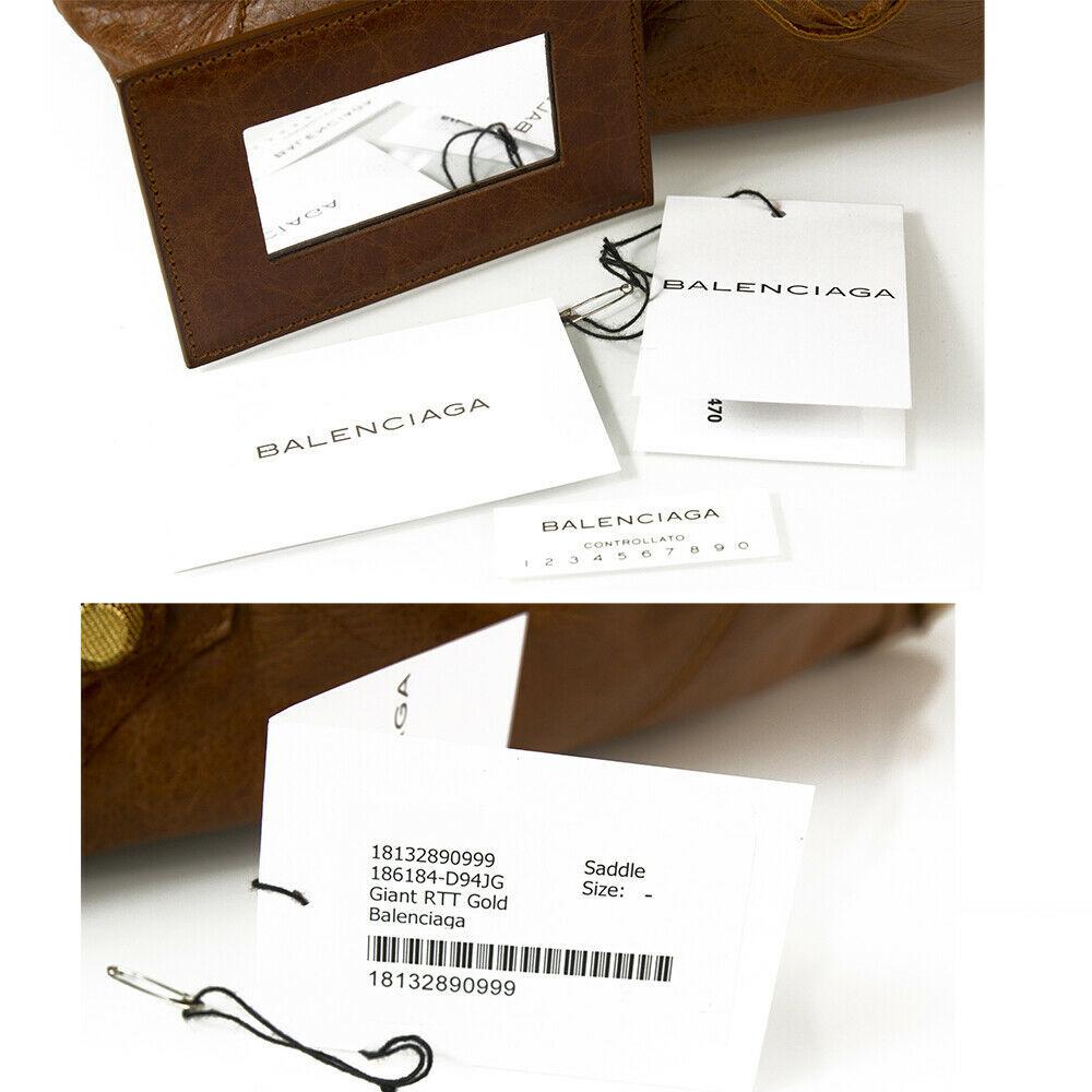 BALENCIAGA Tan Brown Leather Giant 21 Gold Weekender Bag retailed at $2,385  image 8