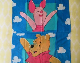 Vintage Disney Winnie Pooh Piglet Reversible Pillow Case Standard  - $29.65