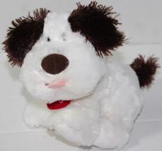 Hallmark DOG GONE CUTE White Brown SINGING DOG STUFFED PLUSH Animated So... - $12.86