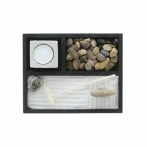 Feng Shui Zen Garden Sand Kit Tabletop Yoga Meditation Table Sand Rocks Set Rake - $19.99