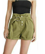 FREE PEOPLE Belted Cotton 'Cindy' Utility Shorts, NWOT - 6 - $16.13