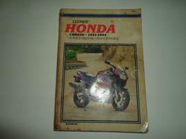 1991 1994 Clymer Honda CBR600 Service Repair Maintenance Manual STAINED WATER - $13.42