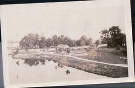 Vintage Flooding Around Buildings 1930's Snap Shot - $3.99