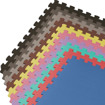 We Sell Mats 100 Square Feet Interlocking Foam Tiles, Black - $2.300,66 MXN