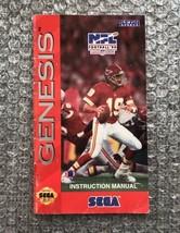 NFL Football '94 Joe Montana **ORIGINAL MANUAL ONLY** Sega Genesis MODER... - $4.27
