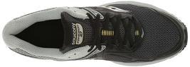 Saucony Uomo Nero/Grigio/Giallo Cohesion 10 Corsa Runners Scarpe Sneaker Nib image 5