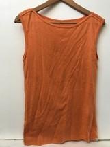Women's Eddie Bauer Outdoor Sleeveless Boat Neck Tank Top Size S Orange - $11.95