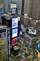 New York City Times Square Wall Decor Canvas or Matted Print Above Times... - $30.00