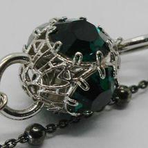 Silber Armband 925 Rhodium und Brüniert mit Kristallen Bunt Made in Italien image 3