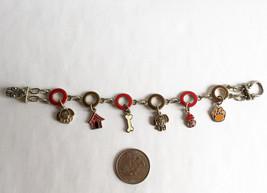 Dog Charm Bracelet Enamel on Pewter - $4.95