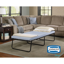 Portable Folding Bed with Memory Foam Mattress Cot Sleeper Roll Away Gue... - $77.95