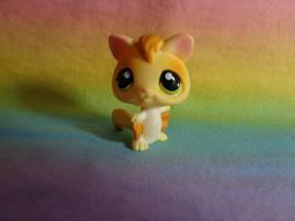 Littlest Pet Shop Sugar Glider Golden Yellow Green Eyes Happiest Pets #990 - $3.95