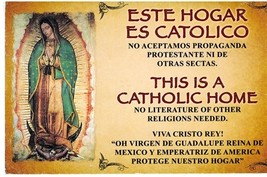 CEDULA DE ESTE HOGAR ES CATOLICO / THIS IS A CATHOLIC HOME - 01163