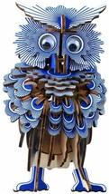OWL Wooden Model Kit Blue 3D Laser Cut Puzzle Hobby Craft DIY Build Crea... - $14.96