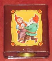 DUCADO SOLINGEN Vintage Old Coin Tin Box 2 Dwarfs Elves Dancing Stamped Germany
