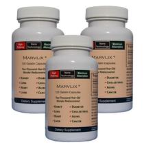 Marvlix w/ Cordyceps Sinensis Mushroom For Immune Health & Longevity (3)... - $125.52
