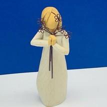 Willow Tree figurine sculpture susan sue Lordi demdaco Angel Friendship floral - $17.33