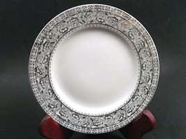 """4 Kutani China Hand Painted Floral Platinum Bread Butter Plate/s 6 1/4"""" ... - $21.34"""