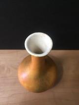 Vintage 60s Haeger Mottled Orange Bud Vase (unmarked) image 3