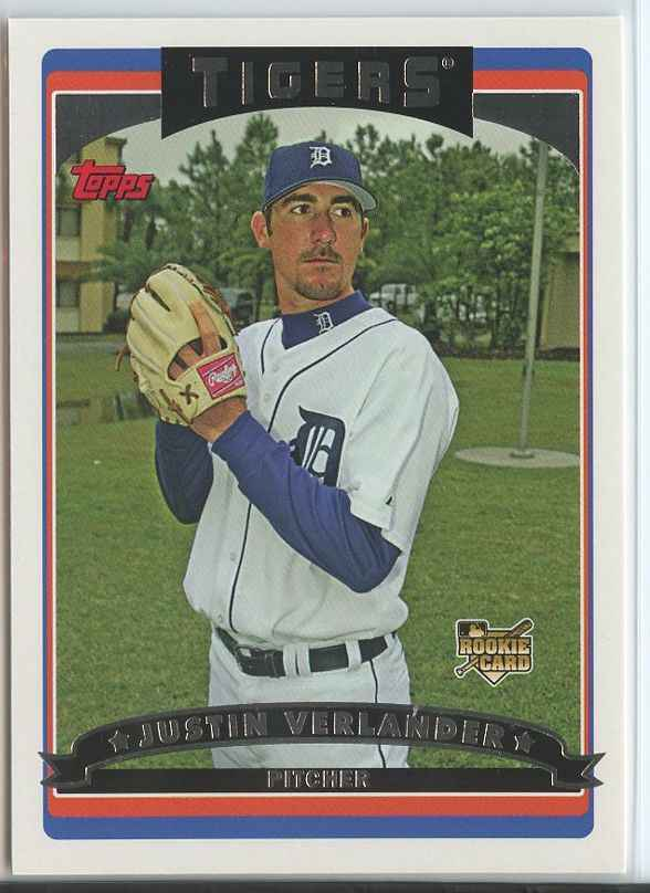 Primary image for JUSTIN VERLANDER RC 2006 Topps #641 Tigers Baseball Trading Sports Cards MLB