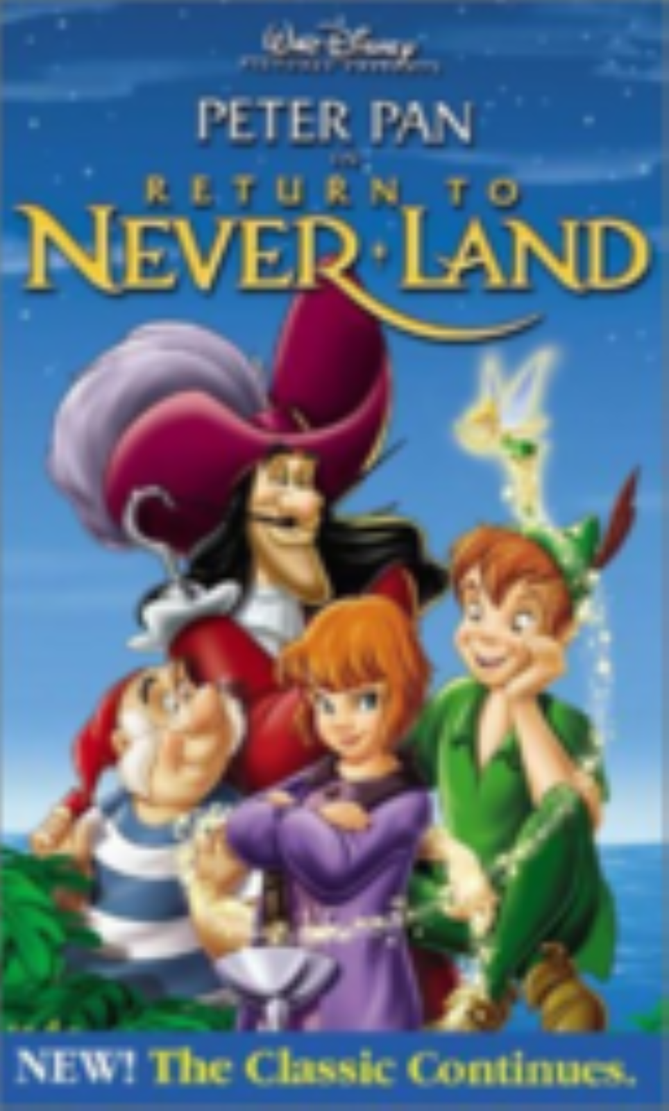 Peter Pan in Return to Never Land Vhs