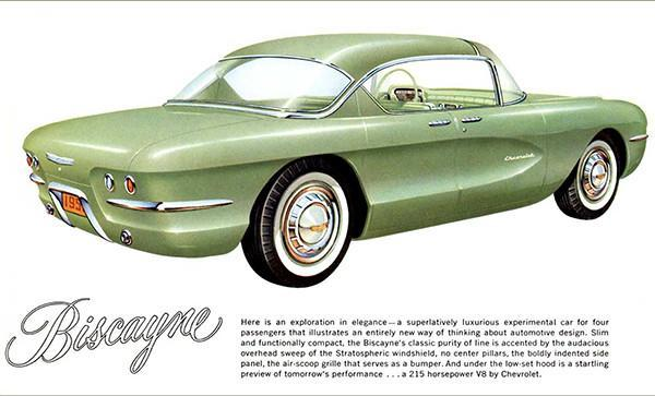Primary image for 1955 Chevrolet Biscayne Concept Car - Promotional Advertising Poster