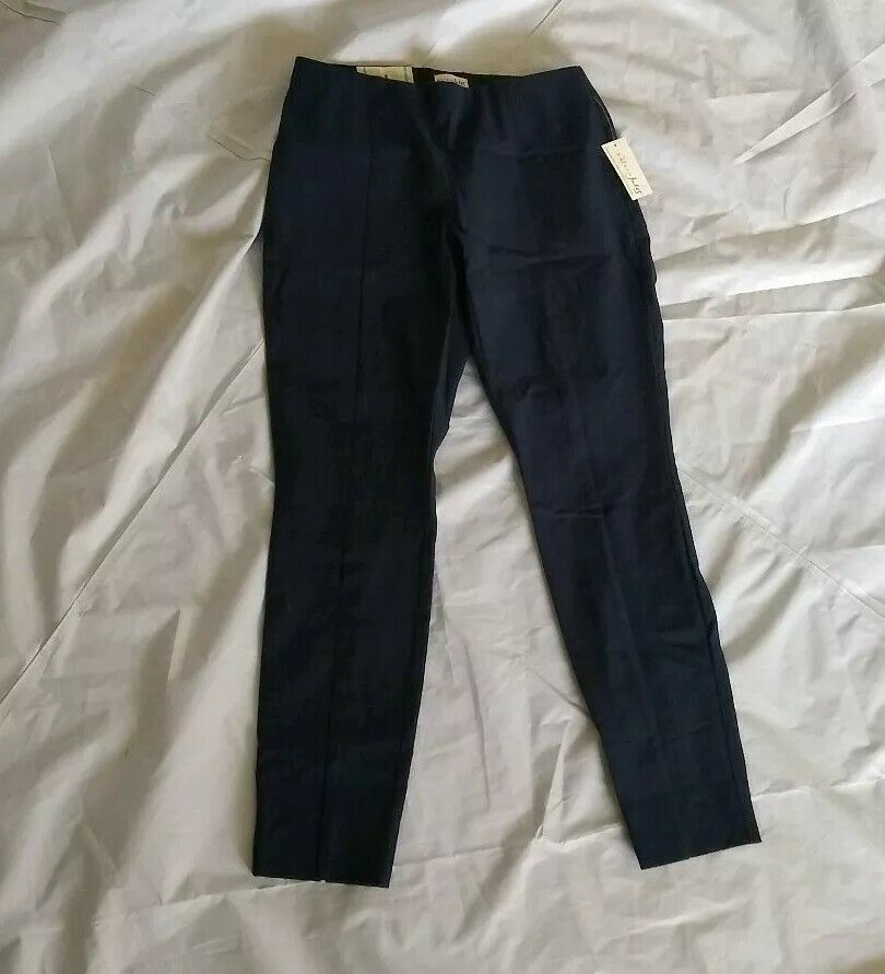 Primary image for Maison Jules Women's Slim Fit Mid Rise Stretch Navy Blue Skinny Pants Size 4