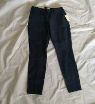 Maison Jules Women's Slim Fit Mid Rise Stretch Navy Blue Skinny Pants Size 4 - $18.69
