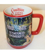 Snow White 7 Dwarfs Prince Evil Queen Black Red Disney Store Coffee Cup ... - $49.95