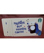 Lot of 6 Starbucks 2019 FRIENDS BUY FRIENDS COFFEE Gift Cards New with Tags - $12.89