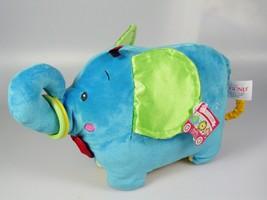 Gund Baby toy Elephant stuffed plush animal Jiffy Colorfun Circus baby gift - $19.79