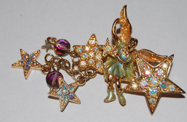 "KIRK'S FOLLY signed ""Johnny Angel"" Fairy Stars BROOCH Pin - 2 1/2 inches... - $37.50"