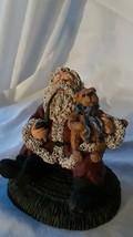 June McKenna Santa Sitting with Teddy Bear - $21.73