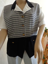 Vintage Checkered Blouse from Kathie Lee Fashions (#0973) - $12.99