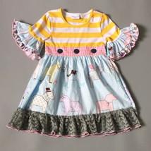 NEW Girls Boutique Horse Pony Short Sleeve Ruffle Dress 5-6 6-7 7-8 - $19.99