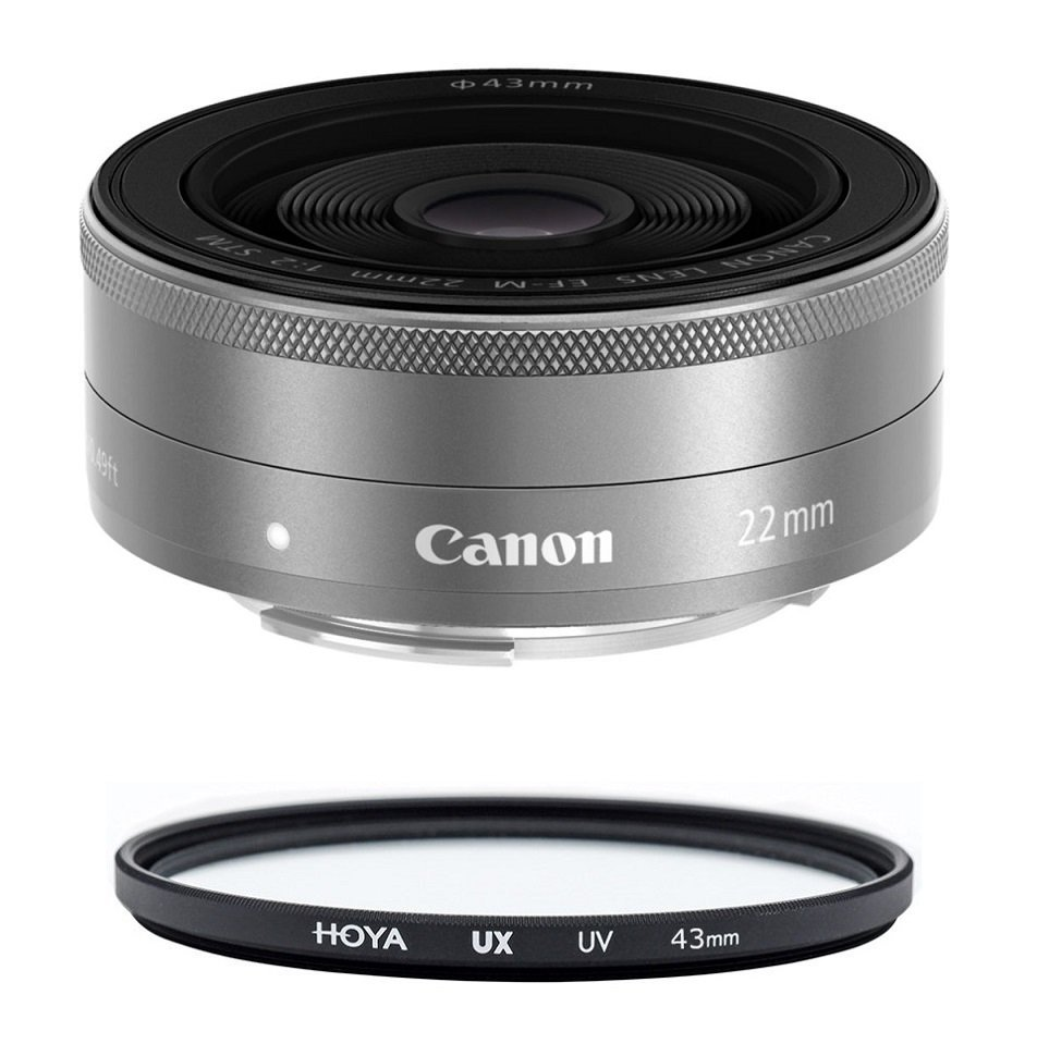 Primary image for CANON EF-M 22mm F2 STM Silver + HOYA UX UV 43mm Filter