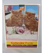 Kodacolor 550 Piece Jigsaw Puzzle Kittens and Pearls 1991 SEALED - $13.85
