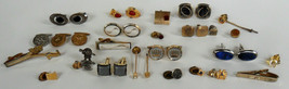Mens Jewelry Cuff Links Tie Clips Tie Tacks Tie Pin Lapel Pins Vintage Lot - $18.00