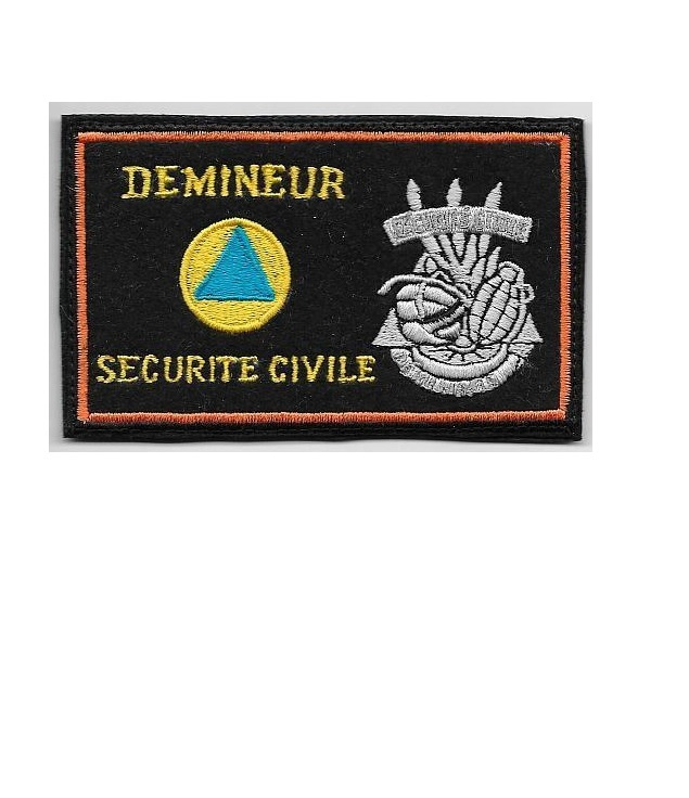 Civile demineur french eod public safety and emergency ministry of the interior 3 x 4.75 in 9.99