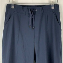 Athleta Girls Sz 16 Navy Blue Wide Leg Capri Pants Athletic Elastic Draw... - $32.71
