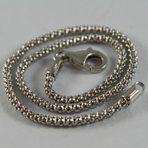 18K WHITE GOLD BRACELET, BASKET ROUND MESH, 7.50 INCHES LONG, MADE IN ITALY image 2