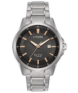 Citizen Men's Eco-Drive Quartz Titanium Casual Watch AW1490-50E - $210.85